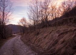 strada colle san bartolomeo tramonto