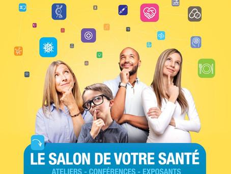 Prochain évènement : Salon santé pour tous du 9 au 11 mars Espace champeret Paris