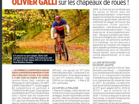 Olivier Galli, bipolaire, triple champion de France en VTT