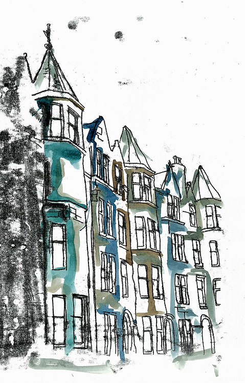 The Blue Tenements Card