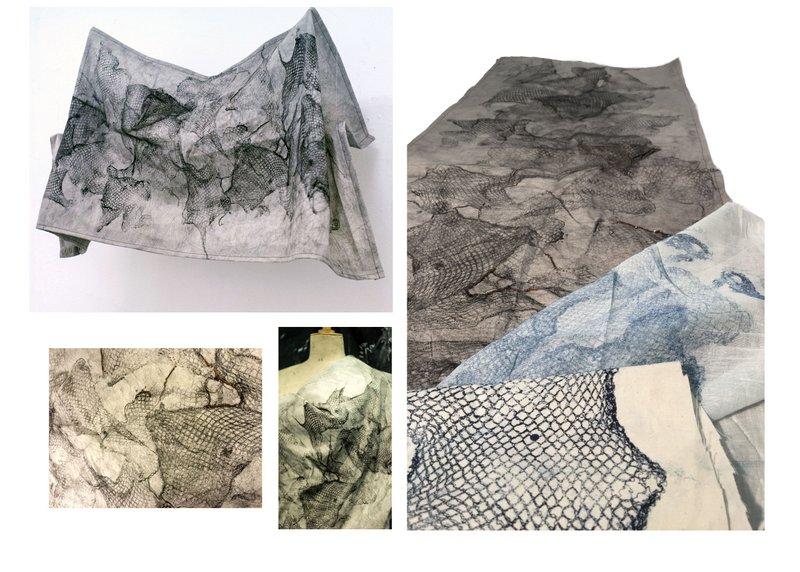 Printed nets textile design