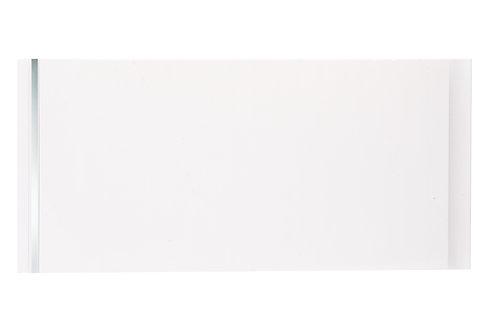 White Gloss with single chome strip