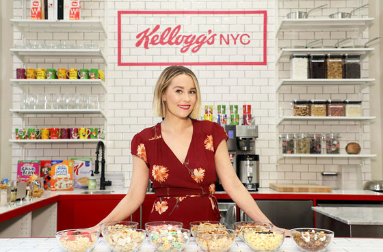 Lauren Conrad Helps Launch Kellogg's New Union Square Cereal Café - Interview