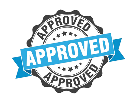 We're approved!