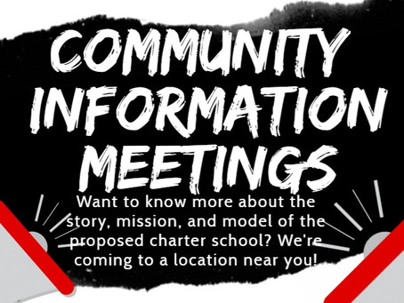 Community Information Meetings planned for March 19
