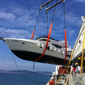Starclass yacht Transport in action