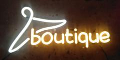boutique neon sign