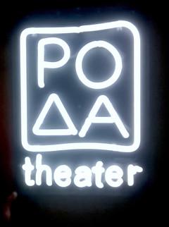 roda theater neon sign