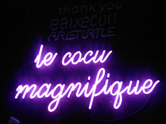 le cocu magnifique neon sign