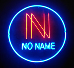 no name neon sign