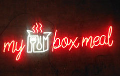 my box meal neon sign