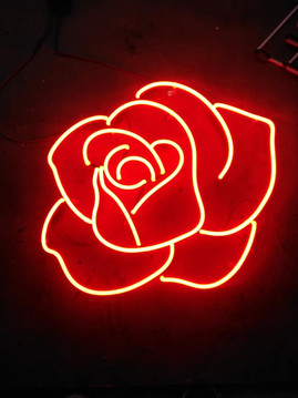 Beautiful Red Rose neon sign