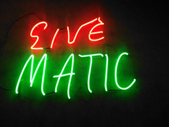 cine matic neon sign