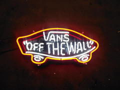 vans off the wall neon sign