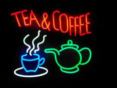 tea & coffee neon sign
