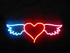 heart with wings neon sign
