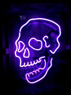 Skull neon sign