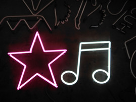 star and music neon sign