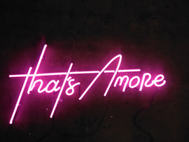 thats amore flamingo pink neon sign