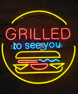 grilled to see you neon sign