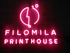 filomila printhouse neon sign