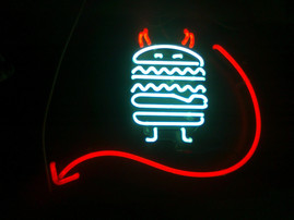 dirty burger neon sign