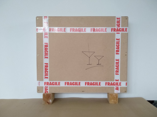 wooden box ready for shipment : fragile
