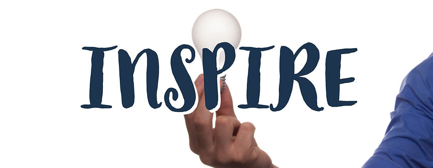 Inspire Text Man Holding Lightbulb