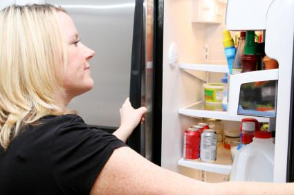 snacks in fridge