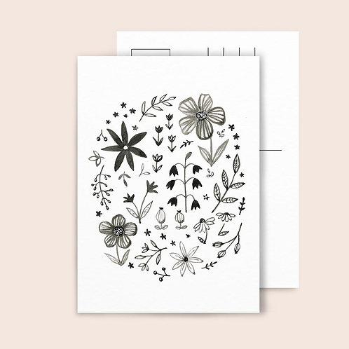 Postkarte Forest Flowers