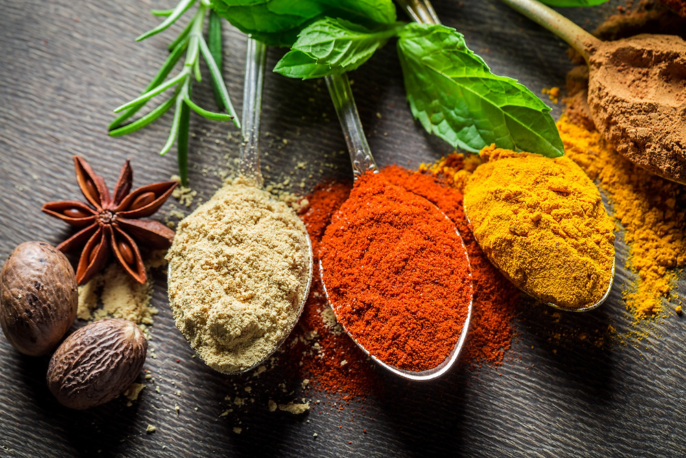 Benefits of cinnamon turmeric ginger and chili spices