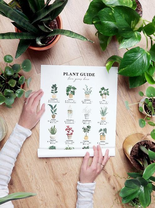 Plant Guide Print - Größe : A3