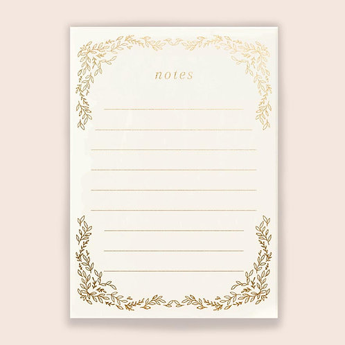"""Goldfoiled Notepad I"""