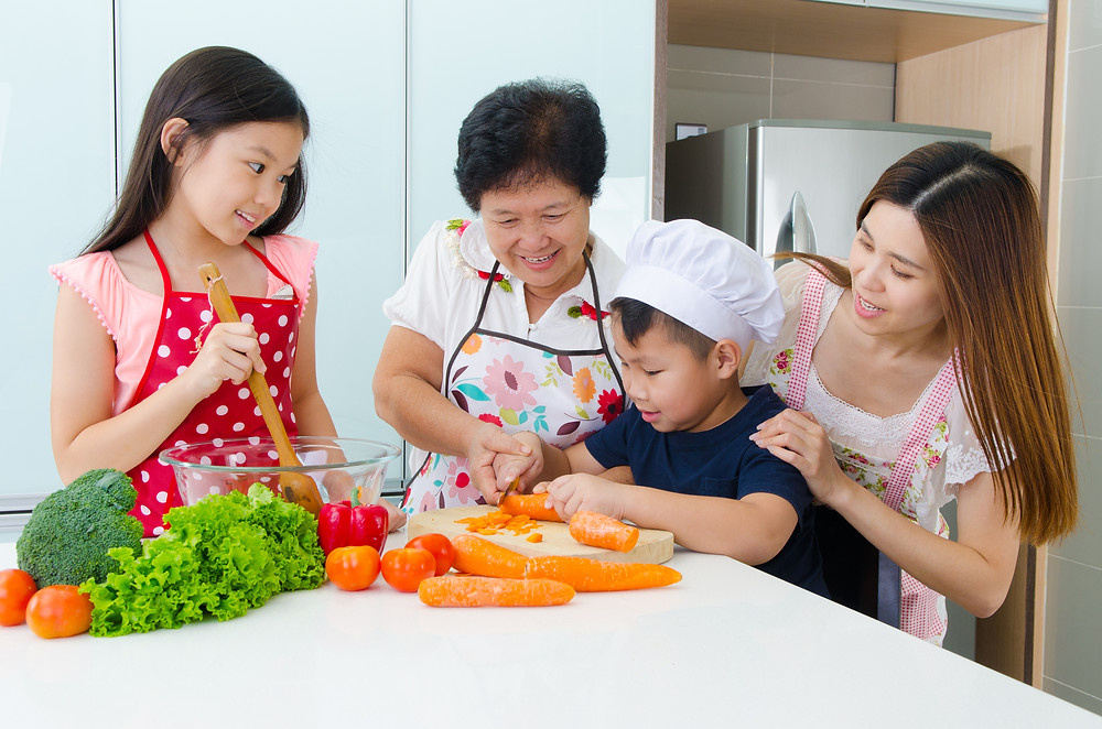 cooking as a family