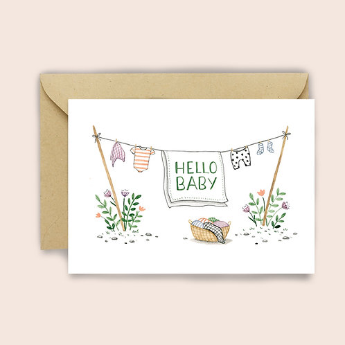 Baby Clothes Card