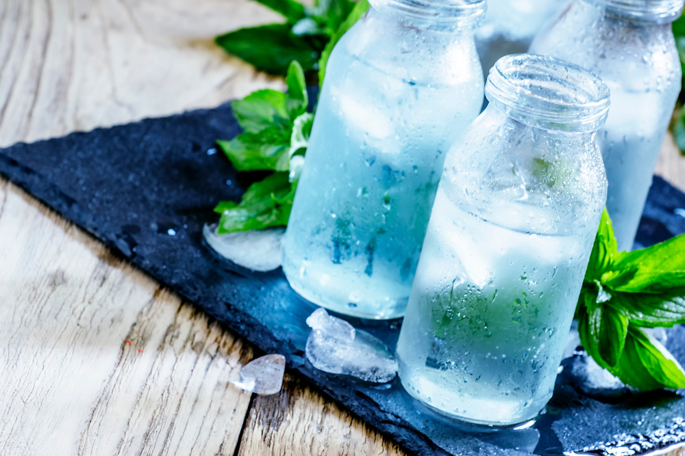 water and healthy beverages