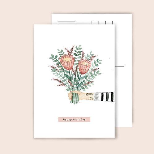 Protea Bouquet Postkarte