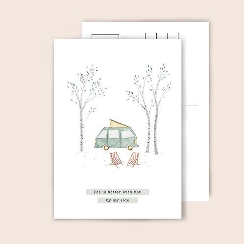 Postkarte Camper Van