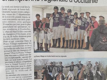 Horse Ball, l'équipe Poney village championne régionale Occitanie