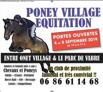 Ça y est c'est la rentrée et Poney Village vous accueille pour des présentations ...