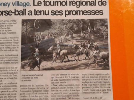 Poney village, centre équestre du Grand Rodez organise son 5e tournoi de Horse ball !