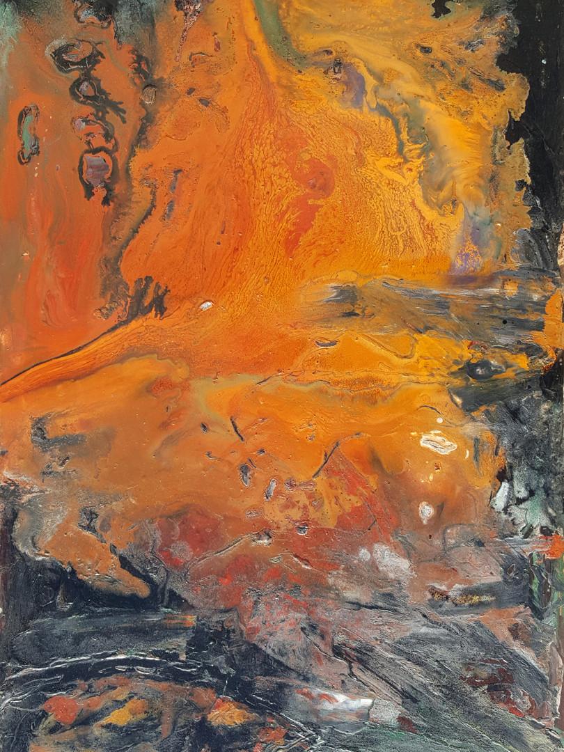 13 Peinture sur affiche expo Riopelle bo
