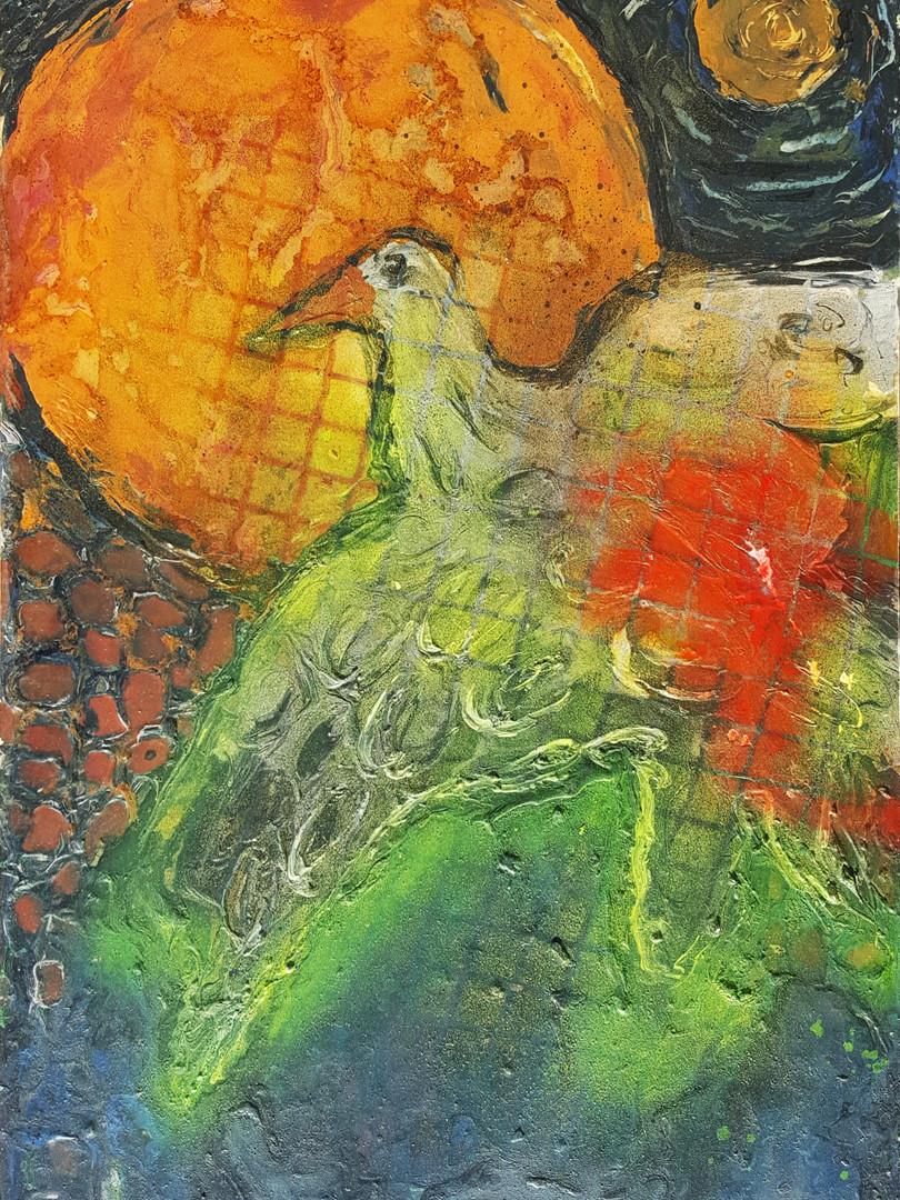 4 Peinture sur affiche expo Riopelle boi