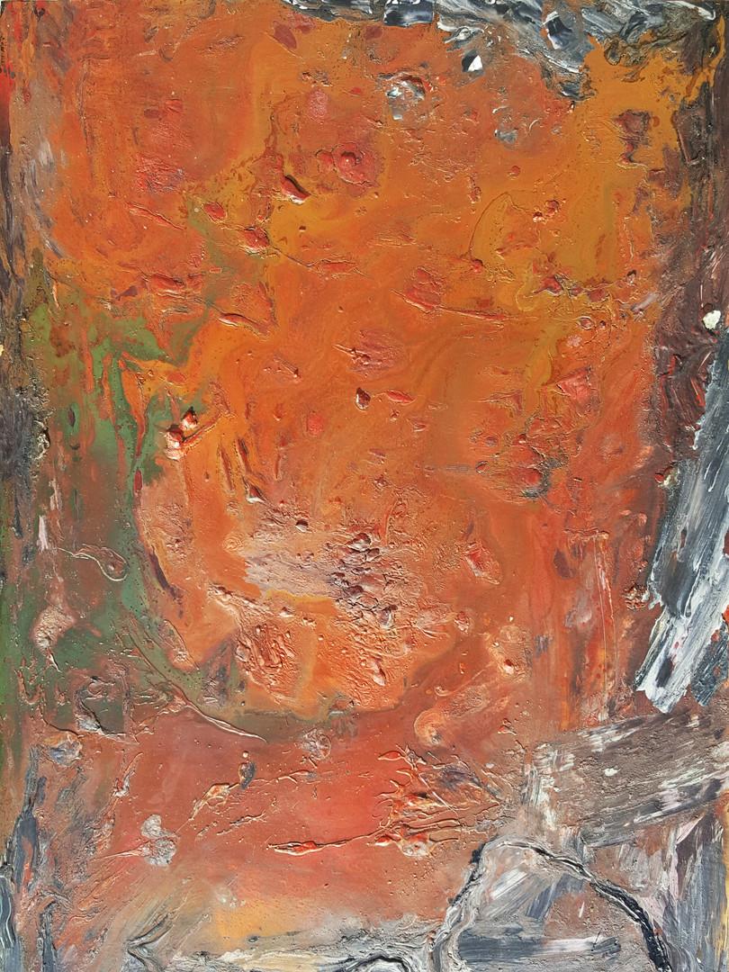 7 Peinture sur affiche expo Riopelle boi