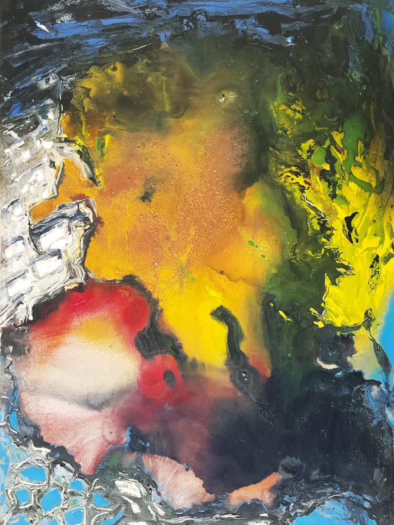 10 Peinture sur affiche expo Riopelle bo