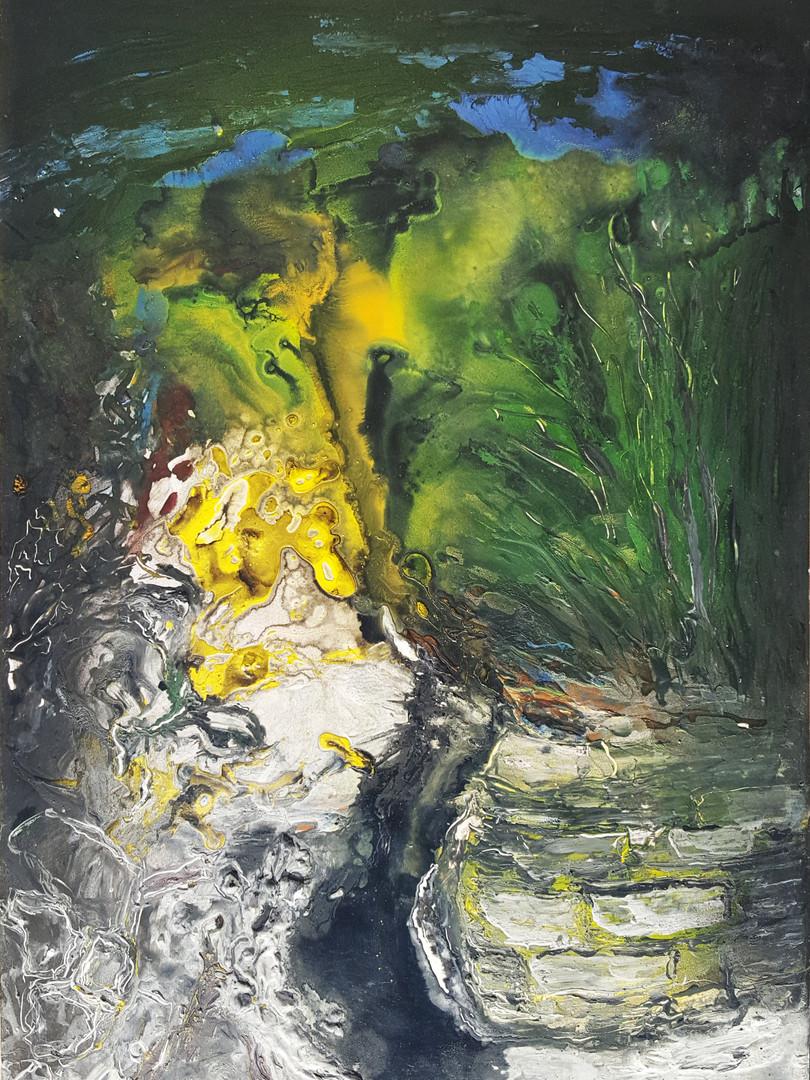 12 Peinture sur affiche expo Riopelle bo