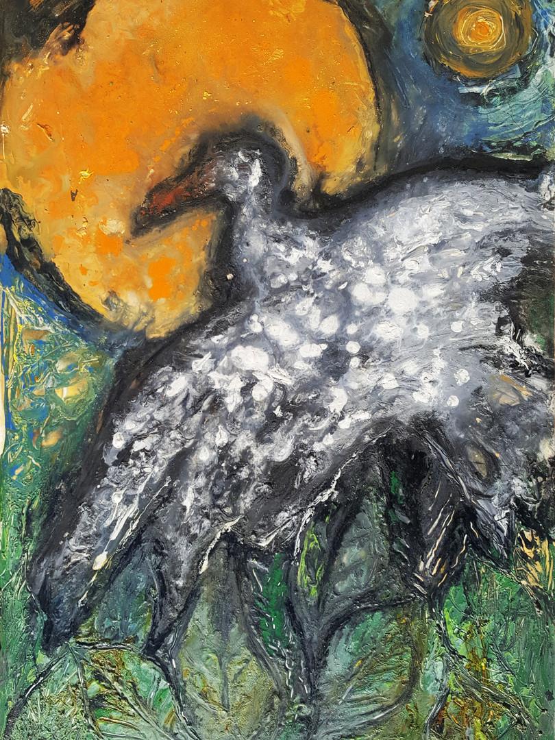 1 Peinture sur affiche expo Riopelle boi