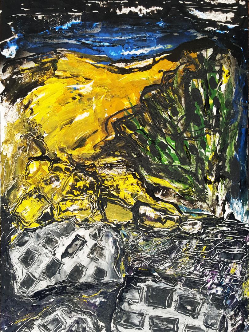 11 Peinture sur affiche expo Riopelle bo