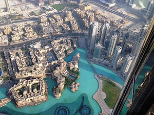 View from the Burj Khalifa, Dubai, UAE