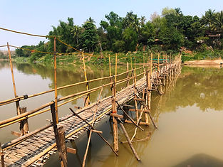 Crossing the Mekong River, Luang Prabang, Laos